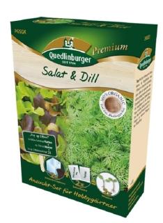 Quedlinburger Saatgut Salat & Dill Anzucht-Set 298001