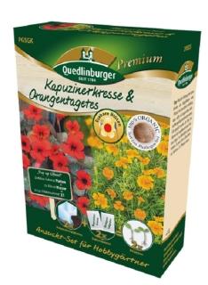 Quedlinburger Saatgut Kapuzinerkr. & Orangenta. Anzucht-Set 298005