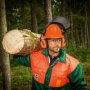 Forst Schnittschutz-Jacke grün/orange Gr. L