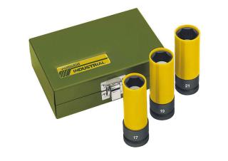 """Proxxon IMPACT Steckschlüsselsatz 1/2"""" 130 mm lang 3-teilig - 17, 19, 21mm 23970"""